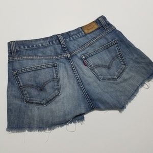 Levis cutoff shorts tilted ultra low fit